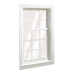 Double Hung Windows - Oriel Wellington Double Hung Window; shown in White with grids.