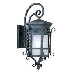 Maxim Lighting - Maxim Lighting 825FSCF Scottsdale EE 1 Light Outdoor Wall Lantern - Scottsdale EE is a traditional, Mediterranean style, energy saving collection from Maxim Lighting International in Country Forge finish with Frosted Seedy glass.