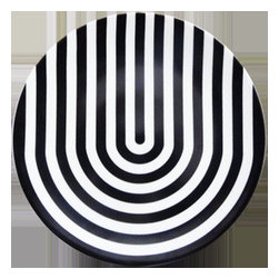 Coupe Monochrome Ubend Dinner Plate - This plate is clearly channeling all the PULP fever I'm seeing on my Facebook feed this week — Brit pop!