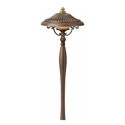Hinkley Lighting - Maribella Path Light - Add style and sophistication to your exterior living space with the European-influenced Maribella path light. Royal Bronze Finish with Amber Etched Glass.