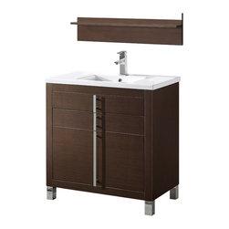 Adornus - Adornus TURIN-36-WAL -C Walnut Vanity - * Free standing all wood vanity