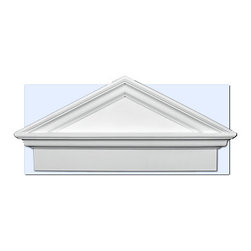 "Inviting Home - Raleigh Pediment - entrance pediment 42-1/4""L x 21-3/8""H x 4-1/2""D pitch - 6/12 Door pediment is made of high density polyurethane. This material is extremely durable and perfect for exterior application. It is tough dimensionally stable light weight and easy to install using common woodworking tools and adhesive. Adding pediments to your home entrance will enhance any new construction renovation or decoration project making a distinctive impression. Each entrance door pediment is reproduced from classic historical designs. Door pediment come primed white ready for painting."