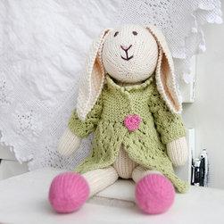 Zia & Tia - Lila Bunny Hand-Knit Organic Stuffed Toy - Lila Bunny Hand-Knit Organic Stuffed Toy
