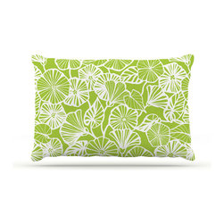 """Kess InHouse - Jacqueline Milton """"Vine Shadow - Lime"""" Green Floral Fleece Dog Bed (50"""" x 60"""") - Pets deserve to be as comfortable as their humans! These dog beds not only give your pet the utmost comfort with their fleece cozy top but they match your house and decor! Kess Inhouse gives your pet some style by adding vivaciously artistic work onto their favorite place to lay, their bed! What's the best part? These are totally machine washable, just unzip the cover and throw it in the washing machine!"""
