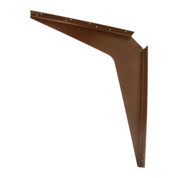 """CounterBalance - Workstation Bracket - Countertop Support Bracket -Import, Brown, 24x29 - The CounterBalance Workstation Bracket provides cost-efficient, secure installs to support stone and solid surface countertops on handicap accessible vanities, and other """"floating"""" work surfaces. These products are available in many useful sizes and come in a variety of colors to match your surface. The Workstation Bracket is designed to attach to load-bearing studs. The Workstation Bracket can support an overhang extending 6"""" beyond the length of the bracket as per industry standard recommendations."""