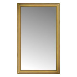"""Posters 2 Prints, LLC - 46"""" x 76"""" Arqadia Gold Traditional Custom Framed Mirror - 46"""" x 76"""" Custom Framed Mirror made by Posters 2 Prints. Standard glass with unrivaled selection of crafted mirror frames.  Protected with category II safety backing to keep glass fragments together should the mirror be accidentally broken.  Safe arrival guaranteed.  Made in the United States of America"""