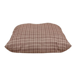 "Carolina Pet Company - Indoor/Outdoor ""Shebang"" - Plaid - Great for decks, patio's or dog houses.  These 100% polyester beds can handle all your outdoor activities.  Indoor or out, these beds are great for older incontinent pets too.  Hose down to clean, the water runs right through or machine wash.  UV protected to keep color from fading."