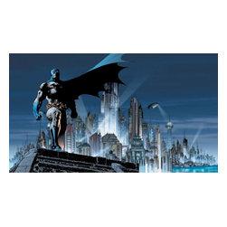York Wallcoverings - Batman Gotham Guardian DC Comics Wallpaper Mural - Features: