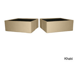 EpicFurnishings - DuraBed Foldable Fabric-covered Jumbo Underneath Storage Bins (Set of 2) - DuraBed Storage Bin Pair fit side by side perfectly under all sizes of the DuraBed metal folding bed. Available in several neutral colors,khaki,black,brown,and ivory to compliment any decor.