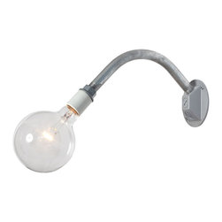 Industrial Light Electric - Industrial Wall Sconce, No Bulb - This Custom Made to Order Industrial Wall Sconce Pipe Light will add Industrial style to any room. For mounting in an existing wall box.
