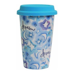 """WL - 6.25 Inch """"Dream"""" 12 Ounce Travel Coffee or Tea To-Go Collectible Mug - This gorgeous 6.25 Inch """"Dream"""" 12 Ounce Travel Coffee or Tea To-Go Collectible Mug has the finest details and highest quality you will find anywhere! 6.25 Inch """"Dream"""" 12 Ounce Travel Coffee or Tea To-Go Collectible Mug is truly remarkable."""