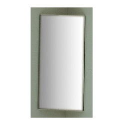 Whitehaus - New Generation Small Mirror - Rectangular shape. 7.8 in. W x 18.8 in. H (20 lbs.). Warranty