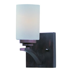 Maxim Lighting - Maxim Lighting 20030SWOI Deven 9 Inch 1 Light Indoor Wall Sconce - Exquisite Cylinder Shaped Satin White Glass Shade