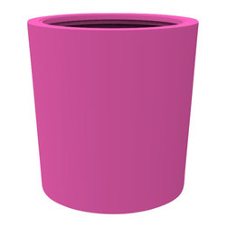 Decorpro - Large Vienna Planter, Bubble Gum - The Vienna planter is a more traditionally shaped pot. The round shape allows this planter to fit in with a wide variety of settings both indoors and outdoors.