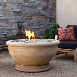 Outdoor Fire Bowl - Marabella Oak Barrel - MARABELLA OAK BARREL FIRE BOWL - For details and additional information on our fire bowls, please contact us at 330-483-3400 or visit our website at ValleyCitySuply.com.
