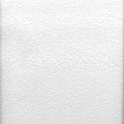 Brewster Home Fashions - Styrene Raised Stucco Texture Paintable Wallpaper Swatch - A puckered look similar to stucco or drop ceilings with an authentic embossed texture. This clean white paintable looks fresh as is but is totally customizable with the paint color of your choice. Cover problem walls or ceilings with this affordable wall solution and enjoy a stylized look.