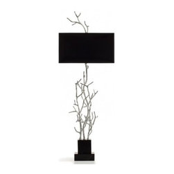 "Pieter Adam - Pieter Adam Twiggy High Table Lamp - The Twiggy High Table Lamp is designed and made by Pieter Adam. Modern and elegant, Twiggy is a collection that is based on nature's beauty. Inspiration was found in the organic nature of twigs. Available in three finish options. This fixture requries 2 x 40W E12 Incandescent or eco-friendly CFL. (not included).         Product Details: The Twiggy High Table Lamp is designed and made by Pieter Adam. Modern and elegant, Twiggy is a collection that is based on nature's beauty. Inspiration was found in the organic nature of twigs. Available in three finish options. This fixture requries 2 x 40W E12 Incandescent or eco-friendly CFL. (not included). Details:                         Manufacturer:            Pieter Adam                            Designer:            Pieter Adam                            Made in:            Netherlands                            Dimensions:            Height: 43"" (110 cm) X Width: 16"" (40 cm)                            Light bulb:            2 x 40W E12 Incandescent (not included)                            Material:            Metal, Cotton"