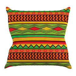 "Kess InHouse - Louise Machado ""Egyptian"" Red Orange Throw Pillow (16"" x 16"") - Rest among the art you love. Transform your hang out room into a hip gallery, that's also comfortable. With this pillow you can create an environment that reflects your unique style. It's amazing what a throw pillow can do to complete a room. (Kess InHouse is not responsible for pillow fighting that may occur as the result of creative stimulation)."