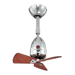 Matthews Fan Company - Matthews Fan Company Diane Ceiling Fan Polished Chrome Wood Blades - DI-CR-WD - Note: Different color/finish may be pictured