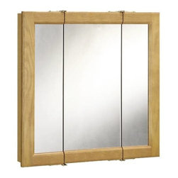 NATIONAL BRAND ALTERNATIVE - Tri-View Med Cab 24 x 24 x 5 - Features:
