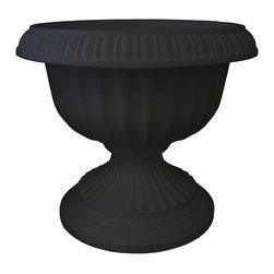 Bloem - Bloem 18in Grecian Urn Black GU18-00 - Durability and economy of polypropylene
