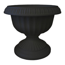 Bloem - Bloem 18in Grecian Urn Black GU18-00 - Durability and economy of polypropylene