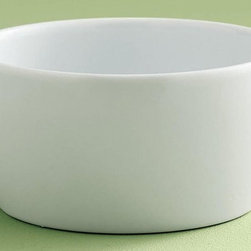Tag Everyday - Whiteware Cereal Bowl - Set of 4 - Set of 4. Great basic piece for year round entertaining and dining. Microwave and dishwasher safe. Oven safe at low temperatures. Made from porcelain. White color. Bowl is 5.5 in. diameter