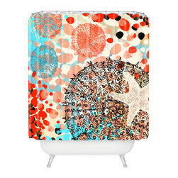 DENY Designs - Irena Orlov Exotic Sea Life 1 Shower Curtain - Who says bathrooms can't be fun? To get the most bang for your buck, start with an artistic, inventive shower curtain. We've got endless options that will really make your bathroom pop. Heck, your guests may start spending a little extra time in there because of it!