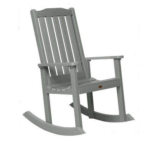 Phat Tommy - Eco-Friendly Rocking Chair in Teak - If you seek the natural look of wood, but would like a product that can be left outside year after year without the maintenance headaches of real-wood, then Highwood is for you. These pieces are a beautiful, elegant and durable choice for your outdoor living space.