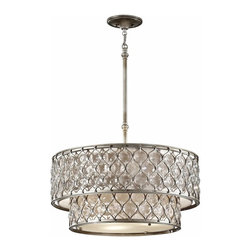 Murray Feiss Lighting - Murray Feiss Lighting-F2707/6BUS-Lucia - Six Light Chandelier - *Canopy Included.