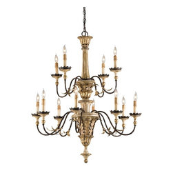 Adara Chandelier - The Adara Chandelier is one of the prettiest chandeliers I've ever seen.  So many delightful details make this one of those chandeliers you remove and take with you if you ever move from your home.  If you have a large dining room or a master bedroom with a tray ceiling, this fixture would be ideal since its quite large with 12 gorgeous lights.