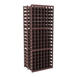 Wine Racks America - 7 Column Double Deep Cellar in Pine, Walnut + Satin Finish - This Double Deep kit is an efficient wine rack that stores 21 cases of wine in one spot. Ideal for restaurants, bars, liquor stores and private collections. Great as a cellar starting kit or as an expansion, our modular design improves flexibility without sacrificing quality. We guarantee that you will love our wine racks.