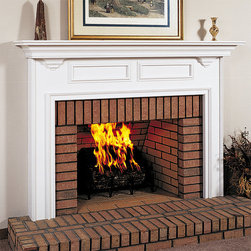 Williamson Wood Fireplace Mantel - With its simple colonial design, the Williamson Wood Fireplace Mantel is perfect for painting and staining.