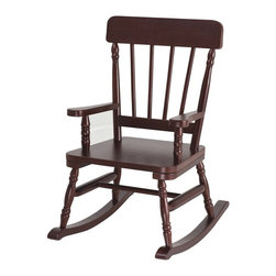 "Levels of Discovery - Simply Classic Rocker Cherry Finish - Classic colors�timeless finishes�always in style The perfect accent for any d�cor Photo greeting card included so child can say THANK YOU in a memorable way Includes understamp beneath the seat that the customer can personalizeTimeless finish. Understamp beneath the seat for personalization. Photo greeting card included. All chairs have a ""personalizable"" understamp. All rockers include photo greeting card and envelope"