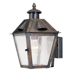 Maxim Lighting - Maxim Lighting Madison Solid Brass Traditional Outdoor Wall Sconce X-TRDC23103 - Savor a bit of European style with the Maxim Lighting Madison Solid Brass Traditional Outdoor Wall Sconce - MX-30132-CD-RT. The russet finish on solid brass means that this fixture won't pit, corrode, or tarnish. The simple styling makes this an elegant addition to your porch, garage, or main gate. The seedy glass provides a warm glow.