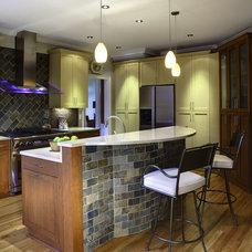 Eclectic Kitchen by Case Remodeling