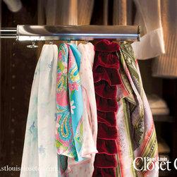 Saint Louis Closet Co. Accessories - Chrome Scarf Racks.  Saint Louis Closet Co.