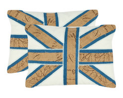 Safavieh Home Furniture - Judah Khaki Decorative Pillows, Set of 2 - -Bring a bold pop art-inspired motif to your favorite chaise or arm chair with the Union Jack-inspired pillow from Safavieh.  - Please note this item has a 30-day manufacturer's limited warranty that covers product defects. Inspect your purchase upon delivery and notify us immediately with any concerns. Safavieh Home Furniture - PIL888B-1319-SET2