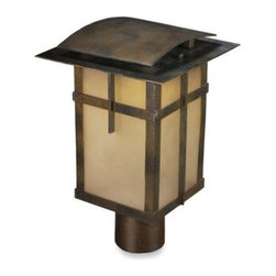 Elk Lighting - ELK Lighting San Fernando 1-Light Outdoor Post in Hazelnut Bronze - The San Fernando collection of lighting fixtures from ELK Lighting features Arts and Crafts styling, which is typified by its refined lines and warm hazelnut bronze finish.