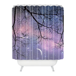 DENY Designs - Shannon Clark Twinkle Twinkle Shower Curtain - Who says bathrooms can't be fun? To get the most bang for your buck, start with an artistic, inventive shower curtain. We've got endless options that will really make your bathroom pop. Heck, your guests may start spending a little extra time in there because of it!
