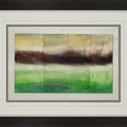 Paragon Decor - From the Forest Artwork - Abstract wooded landscape is refreshed with shades of green.