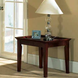 Steve Silver Clemens Square Cherry Wood End Table - About Steve SilverSince its founding in Forney, Texas, in 1987, the Steve Silver Company has had a simple focus: to provide the best quality product at an irresistible price, back it up with uncompromising service, and continue to improve every day. As one of the premier suppliers of dining sets and occasional furniture in the country, Steve Silver is proud to make you, the customer, its top priority, utilizing state-of-the-art equipment, proven operating procedures, and over 500,000 square feet of facilities. You'll feel equally proud displaying furniture from the Steve Silver Company in your home.