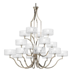 Thomasville Lighting - Thomasville Lighting Caress Chandelier with Etched, Polished Nickel X-BW401-5864 - Thomasville Lighting Caress Chandelier with Etched, Polished Nickel X-BW401-5864P