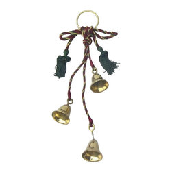 "Handcrafted Model Ships - Solid Brass Christmas Decorative Bells 12"" - Nautical Decor - These brass bells are a distinctive piece of nautical decor that will set the tone of any room, and can serve as a daily reminder when food is ready. Adorned with a highly-polished finish, the decorative hand bells are an eye-catching and ear-pleasing addition to the nautical decor theme of any room. Truly a great nautical gift for any coworker, friend, or family member."