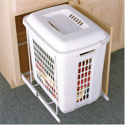 Cabinet Accessories - Hamper roll out with plastic bin.