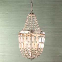 Antiqued Crystal Basket Lantern -