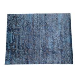 1800GetARug - Oriental Rug Hand Knotted Rug Bamboo Silk Broken Design Sky Blue Sh14075 - About Modern & Contemporary