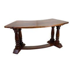 """San Miguel Colonial Half Desk - This San Miguel Colonial Half Desk is part of our newest lines of furniture. Clean lines, exclusive designs and as always, 100% Solid wood construction. The San Miguel line needs no introduction. This line stands alone from the rest with matching pieces available for Every room in your home. Click on """"collection"""" to see more. No veneers are used, Only solid planks of wood with a soft hand-rubbed wax. The Colonial is perfect for an office entry room, doctors office, dorm room, Small house or an apartment. For larger homes, perhaps this goes well as a guest room office accent, Small home office or maybe for a much needed """"office"""" just off the kitchen? Many options with this versatile desk."""