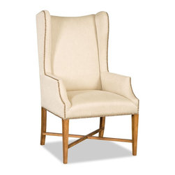 "Hooker Furniture - Hooker Furniture Dining Arm Chair - The Arabella Dining chairs bring a touch of class to your dining room. Rubino Flax Fabric Content: 70% Rayon, 29% Polyester, 1% Nylon. Dimensions: 26.5""W x 31""D x 46""H."