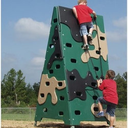 Sportsplay Climber Challenge - Camo Color - Kids will feel like they're in basic training to become G.I. Joe with the Sportsplay Climber Challenge - Camo Color. Constructed with durable polyethylene plastic panels, it features multiple colors for a fun and unique look. Assistance ropes are included so it's safe for kiddos.About SportsPlay EquipmentFrom early childhood to early teens, SportsPlay offers a broad range of fun, value added products manufactured for quality and long-term performance. Their mission is to provide fun equipment of exceptional safety, durability and value on the playground and in the neighborhood.SportsPlay is proud to offer IPEMA certified products. In the interest of public playground safety, IPEMA provides a third-party certification service whereby a designated independent laboratory validates a manufacturer's certification of conformance to the ASTM F-1487 (excluding section 10 and 12.6.1), Standard Consumer Safety Performance Specification For Public Use, standard. The use of this seal signifies that SportsPlay Equipment has received written validation from the independent laboratory that the product associated with the use of the seals conforms to the requirements of ASTM F-1487.SportsPlay Equipment is a member in good standing of IPEMA, the International Play Equipment Manufacturers Association. IPEMA is a member-driven international trade organization, which represents and promotes an open market for manufacturers of play equipment and surfacing.